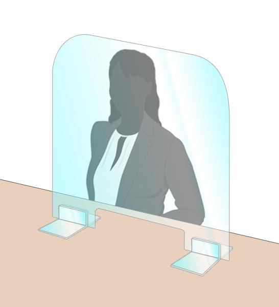 コロナウイルス飛沫感染防止アクリルパーテーション 600×700mm