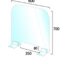 コロナウイルス飛沫感染防止アクリルパーテーション 600×700mm サイズ