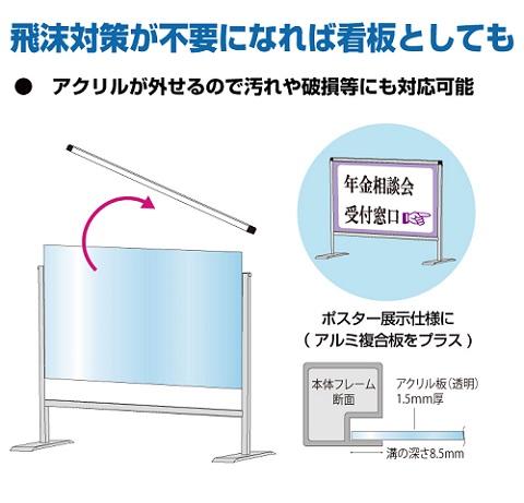 飛沫対策が不要とになれば、看板としてもご使用可能
