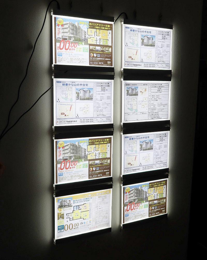 不動産LEDパネル ESTATE DELUX 8000 4枚×2列掲示