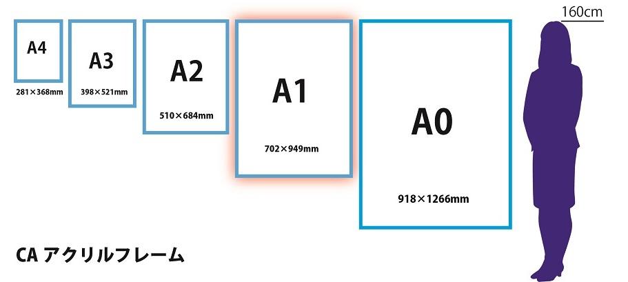 サイズ比較アクリルA1