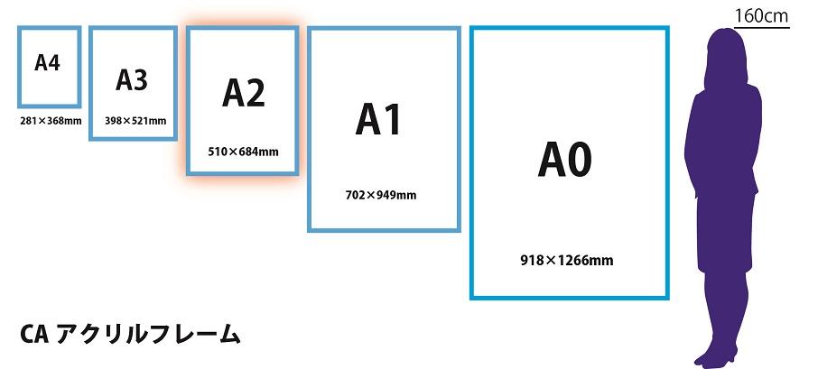 サイズ比較アクリルA2