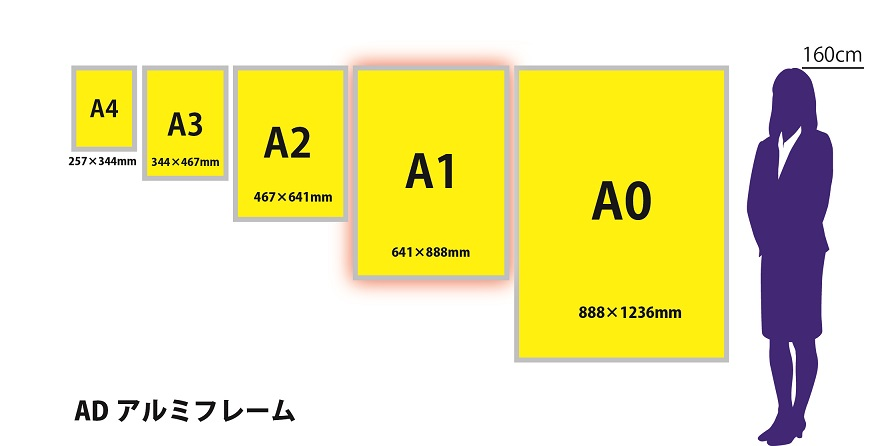 サイズ比較アルミA1